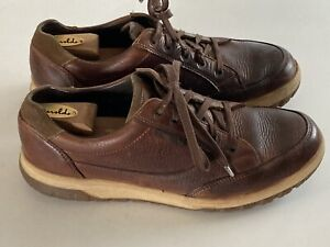 🥂 MEPHISTO Hydro Protect Brown Leather Lace Up Men's Walking Sneaker Size US 11