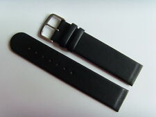 Uhrband Leder schwarz 20 mm Einschubband Befestigung Schrauben  SKAGEN BERING