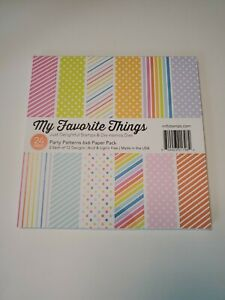 "My Favorite Things Single-Sided Paper Pad 6""X6"" 24/Pkg-Party Patterns"