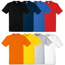 5er/10er Fruit of the Loom T-Shirt Heavy Cotton Herren Shirts Schwere Qualität