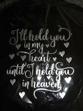 REMEMBRANCE BALLOON 18'' FOIL i'll hold you in my heart - FUNERALS anniversary