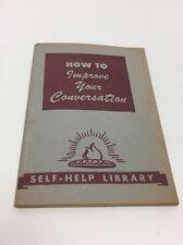 VTG Little Blue Book No. 367 How to Improve Your Conversation Haldeman Julius
