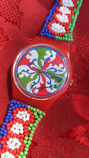 1994 SWATCH WATCH(Signed)PEDRO ALMODOVAR BEADED/LEATHER BAND...