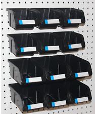 Pegboard Bins 12 Pk Kit Hooks To Peg Board 6 Med Amp 6 Lg Bin Part Storage