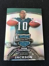 DESEAN JACKSON ROOKIE PLAYER WORN JERSEY BOWMAN STERLING 2008 RC FOOTBALL CARD