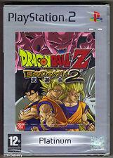 PS2 Dragonball Z Budokai 2 Platinum, UK Pal, Brand New & Sony Factory Sealed