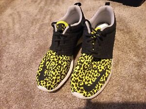 Nike Neon Yellow Leopard Animal Print Size Men's 8 Womens 9.5 EU 41 Sneakers