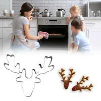 Stainless Steel Cookie Cutter Biscuit Mold Deer Head Reindeer Mould