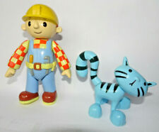 Bob the Builder Figures - Bob and Pilchard the cat