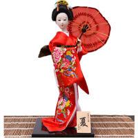 Japanese Geisha Miniatures Doll With Beautiful Kimono Traddtional Japan Culture