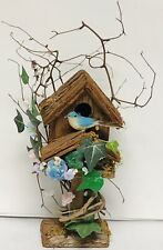 "Decorative Wooden Birdhouse 10"" Tall"