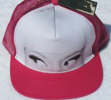 Nicki Minaj Face Hat Pink & White Baseball Cap Adjustable Strap NEW!