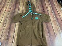The North Face Women's Brown Short Sleeve Hoodie Sweatshirt - Medium