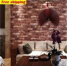 3D Red Brick Look Wallpaper - Industrial / Restaurant / Shop / Bar Club / Home