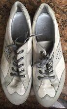 Womens Ecco Gray Leather Fashion Sneakers SZ US 8 EUR 39