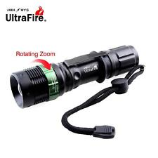 Ultrafire 8000 LM Zoomable CREE XML T6 LED Flashlight 18650 AAA Battery Torch AE