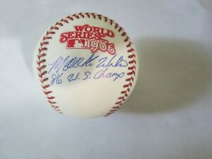 Mookie Wilson Autograph / Signed 1986 World Series Baseball New York Mets