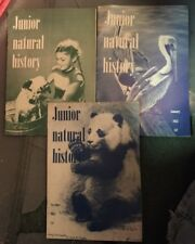 3 ISSUES JUNIOR NATURAL HISTORY MAGAZINE NOVEMBER 1954 JANUARY 1955 AUGUST 1954