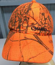 Gander Mountain Safety Blaze Orange Camo Snapback Baseball Cap Hat