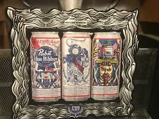 Pabst Blue Ribbon Beer ~ New ~ Pbr Art Can 2014 - 2016 Winners 3D Tin Sign