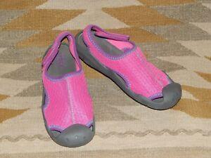 Crocs Dual Comfort J2 Youth Pink & Gray Shoes