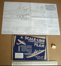1940s VINTAGE HOME FRONT Modelcraft piano corazzata HMS Warspite (Micromodels)