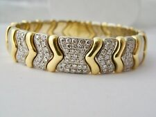 Top Bangle With 2,11 CT Diamonds 750/18K Gold 95,7G Bicolour Value