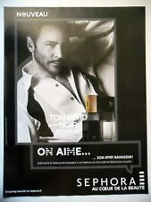 PUBLICITE-ADVERTISING :  SEPHORA Noir Extreme Tom FORD  2015 Parfum