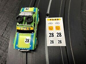 Aurora G PLUS Professionally Printed Decals Ford Escort Rally Car