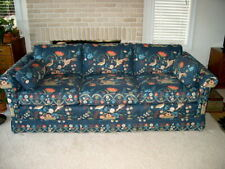 "Ethan Allen 84"" Tuxedo Sofa w Custom Greeff Fabric Copy of Smithsonian Pattern"