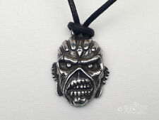 Mens Unisex Iron Maiden Eddie Pewter Gothic Leather Necklace by Alchemy England