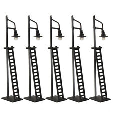 5pcs Model Trains Layout N Scale Lamps 7.5cm 1:150 Street Lights with Ladder