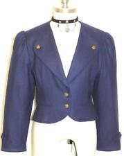 "BOILED WOOL Short Over Coat Jacket Women AUSTRIA Fitted Peplum Short B36"" 38 6 S"
