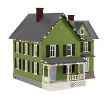 MTH 30-90591 FARM HOUSE WITH CHRISTMAS LED LIGHTS O GA. GRAY ROOF,GREEN,BLACK