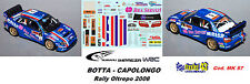 DECAL  1/43 - Subaru Imreza  WRC - BOTTA - Rally Oltrepo  2008