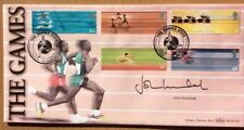 Benham 16.7.2002 Manchester Commonwealth Games FDC Signed JOHN INVERDALE BBC ITV