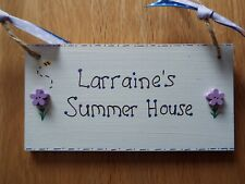 Personalised Summer House Sign Indoor Use Only summer house plaque Garden gift
