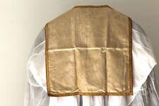 Voile de calice en soie damassée blanche XIXe Siècle