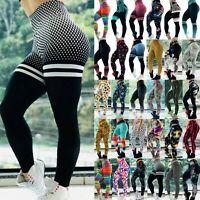 US Women Yoga Gym Fitness Leggings Running Stretch Sports Workout Pants Trousers