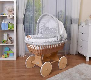 WALDIN Baby Bollerwagen,Stubenwagen,komplett mit Zubehör,XXL NEU !!! Weiß/Sterne