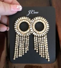 Out! New$65 Nwt With Bag! J.Crew Baguette Crystal Sunburst Earrings! Sold