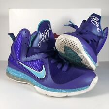 best sneakers 98d0d b4214 Nike LEBRON IX 9 Summit Lake Hornets Shoes 469764-500 Purple Turquoise Blue  Sz 9