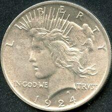 1924 (CH BU) $1 SILVER PEACE DOLLAR