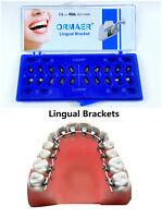 Dental Orthodontic Metal Lingual Brackets Ortho Braces Mini Roth 018 Mesh Base