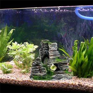 Artificial Resin Rock Cave Mountain Home Aquarium Fish Tank Decoration Ornament