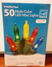 Set of 50 Multi-Color LED Mini Lights Green Wire: Wedding/Event/Christmas 12.5ft
