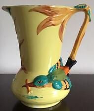 Large, 1930's, Burleigh  Ware, Colourful, Kingfisher Jug, 25cm High