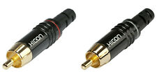2 x Sommer cable RCA Cinch Hicon Stecker HI-CM06 RED NTL Phono HiFi Cinchstecker