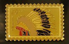 USPS Postal Stamp Pinback Cheyenne 25 Cents Vintage 1990 Collectible