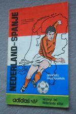 PROGRAMME )) NEDERLAND V SPANJE 1983 ...HOLLAND ESPANA
